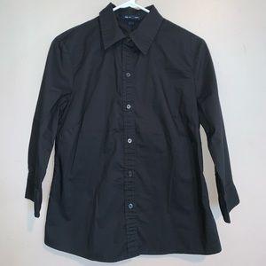 Black GAP button up shirt